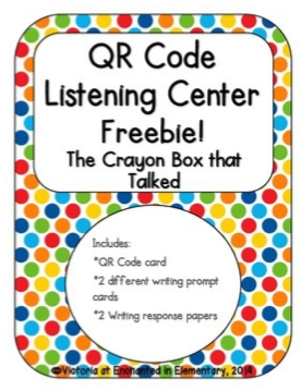 http://www.teacherspayteachers.com/Product/QR-Code-Listening-Center-The-Crayon-Box-that-Talked-1296704