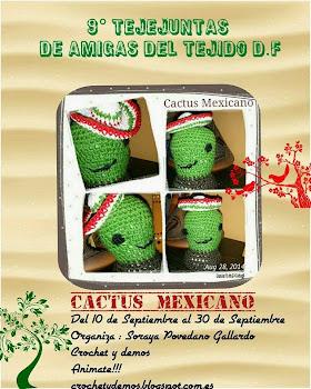 """9no Tejejuntas de Amigas del Tejido """"Cactus mexicano"""""""