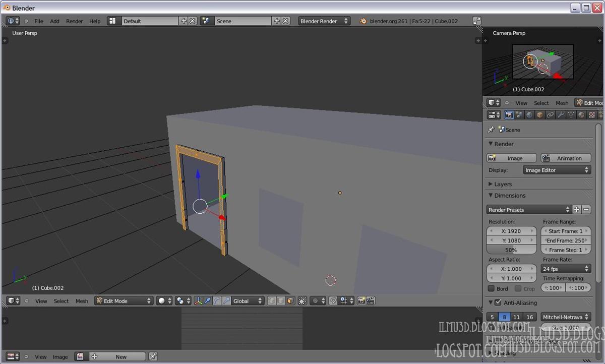 Desain Rumah D Dengan Blender