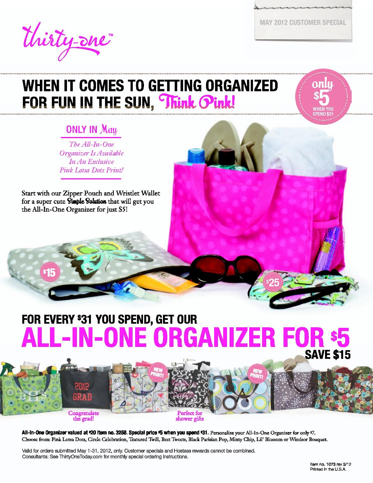 Thirty-One Gives & May Specials