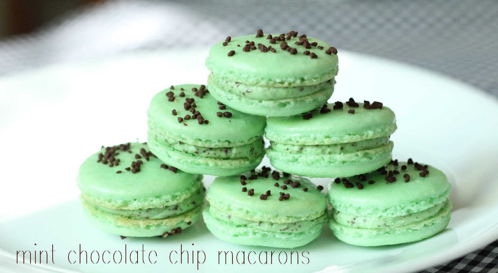 Macaron Recipe Chocolate Mint Chocolate Chip Macarons