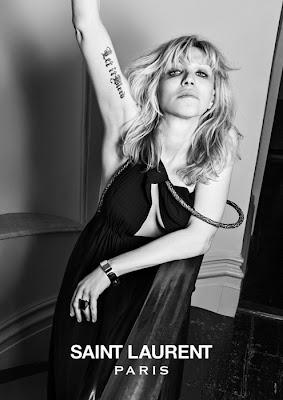 Courtny Love, nueva imagen de Yves Saint Laurent