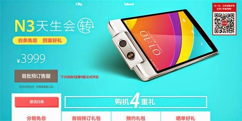 Oppo N3 Dipesan 2 Juta Orang di Tiongkok