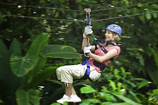 Zip Lining in the Rainforest