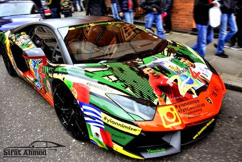 Lambo Aventador 2014 World Cup Specials