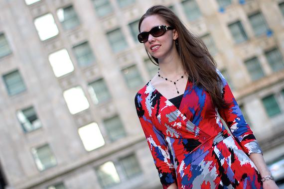 Printed Dress with Sleeves | StyleSidebar