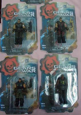 """NECA Gears of War 3.75"""" figures - Wave 1"""