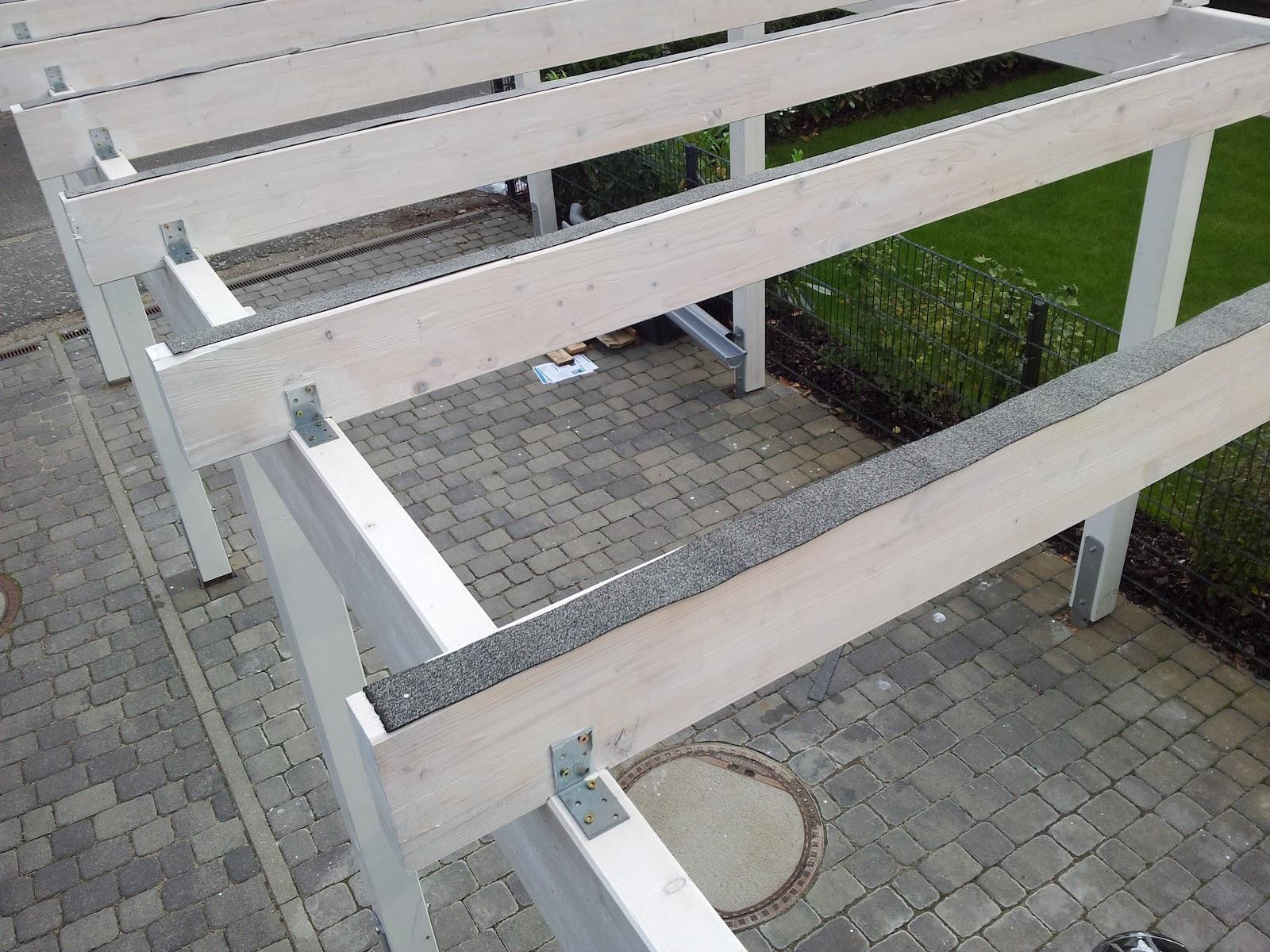 schritt 7 die dacheindeckung projekt carport. Black Bedroom Furniture Sets. Home Design Ideas