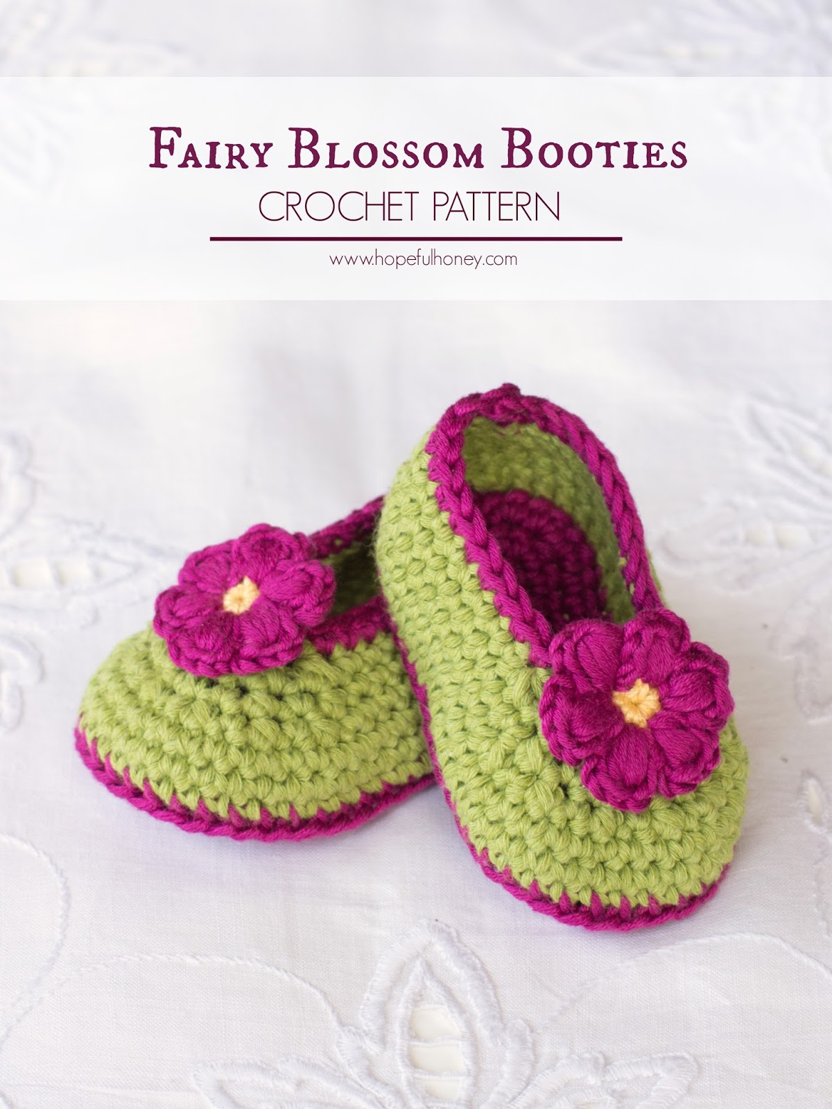 Crochet, Create: Fairy Blossom Baby Booties Free Crochet Pattern ...