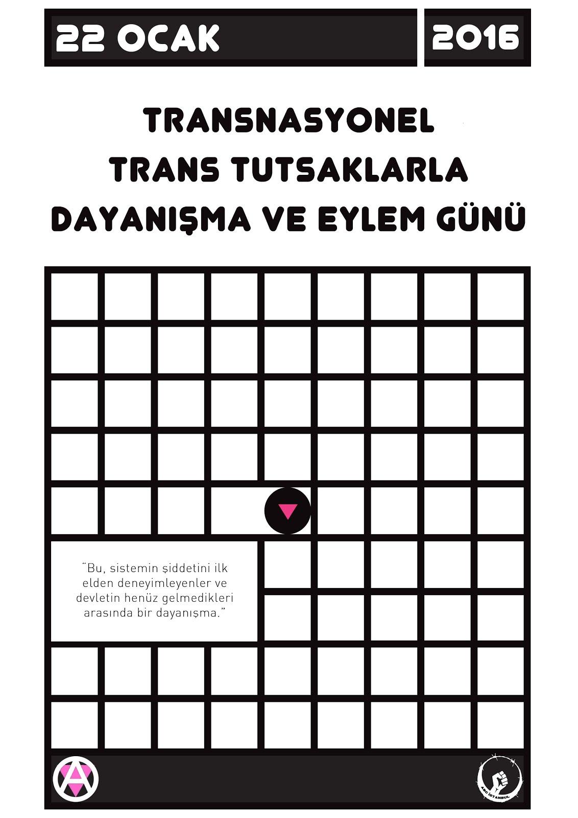 Trans Tutsaklarla Dayanışma ve Eylem Günü
