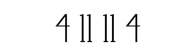 4   11   11   4
