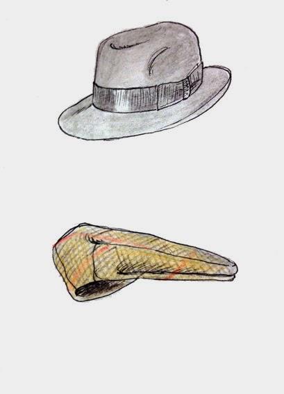 Borsalino e berretto con visiera (illustraz.M.Cappon) d94e9df89865