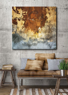 abstract, industrial, wall art, contemporary, female artist, urban, brown, cream, grey,
