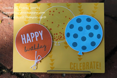 Birthday card made with the Celebrate Today stamp set.