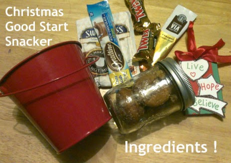 Christmas Good Start Snacker packag ingredients