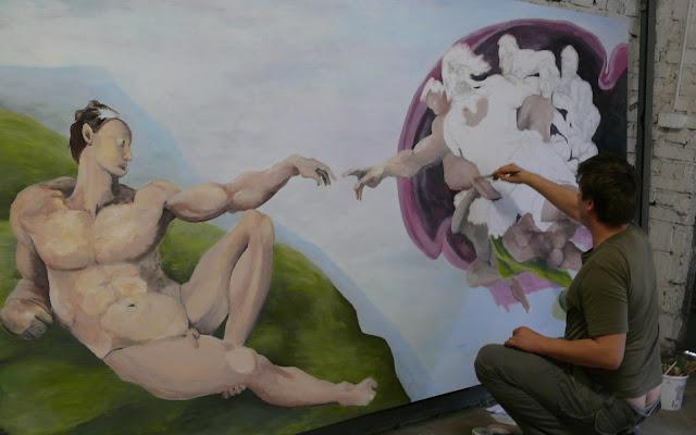 Malowanie kopi obrazu olejnego stworzenie adama,  reprodukcje obrazów olejnych na zmówienie