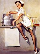 . americanos pendurar imagens de mulheres bonitas em seus alojamentos.