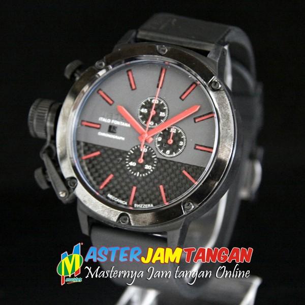 JAM TANGAN U BOAT CLASSICO CARBON FIBER FULL BLACK Rp 950