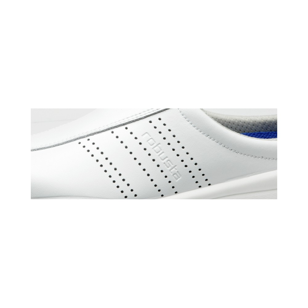 Detalle del Zapato Hospitalario Alba Blanco - Robusta