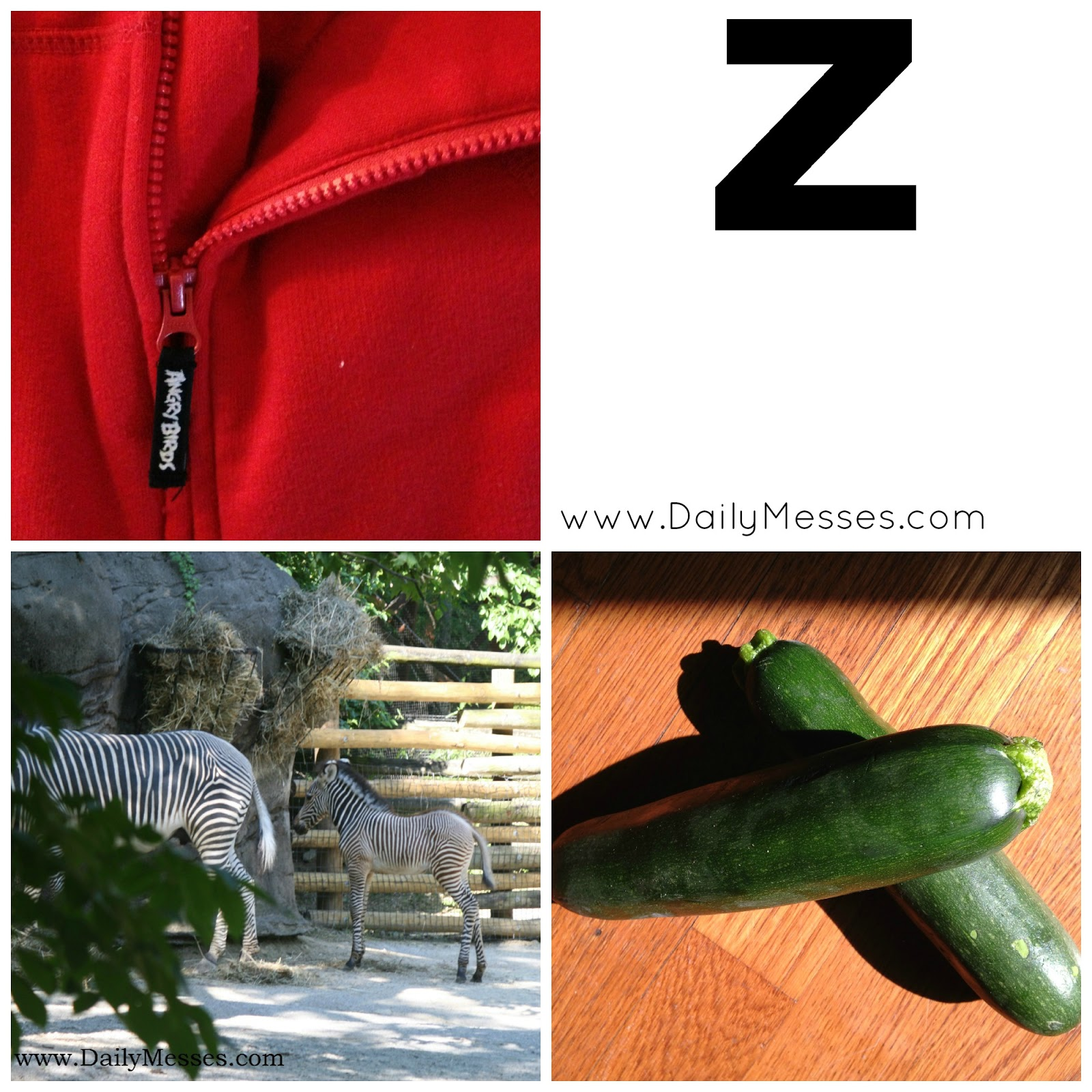Daily Messes Z Is For Zebra Zipper And Zucchini