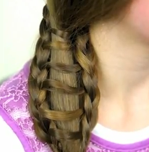 ladder braid side ponytail style for girls