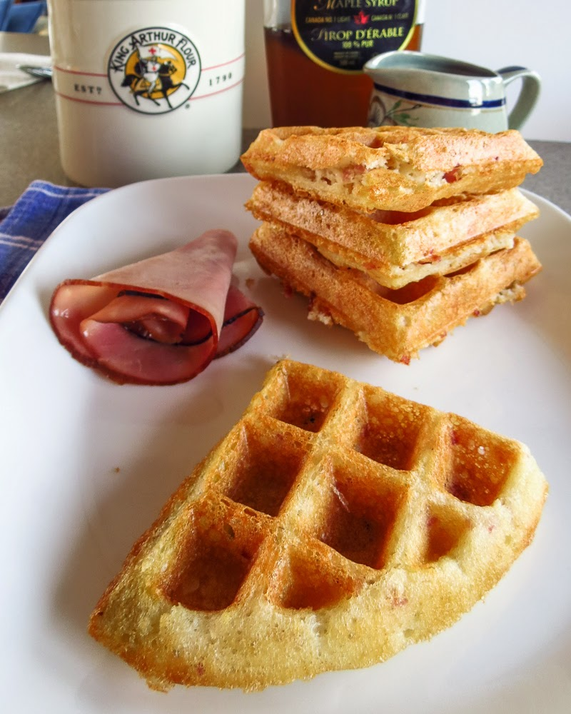 OnTheMove-In the Galley: Sourdough Ham and Cheese Waffles