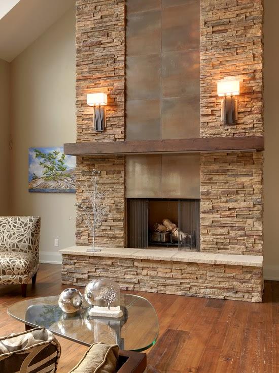 Hogares frescos remodelaci n de la sala de estar - Decoracion con chimeneas modernas ...