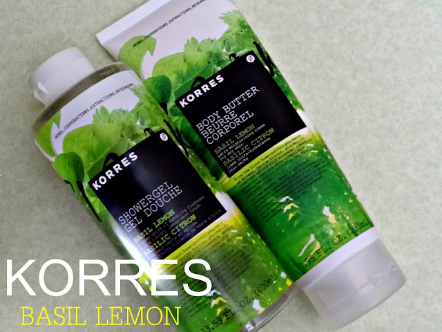 Korres Basil Lemon Body Butter and Shower Gel Review, Photos