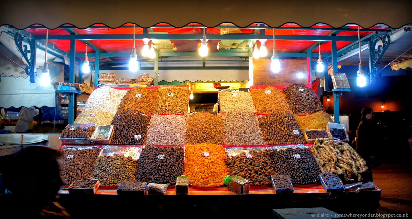 Dried fruit stall - Djemaa El-Fna Marrakech