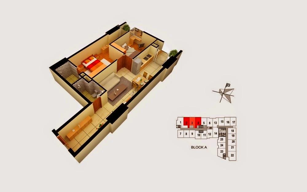 mặt bằng căn hộ gemek