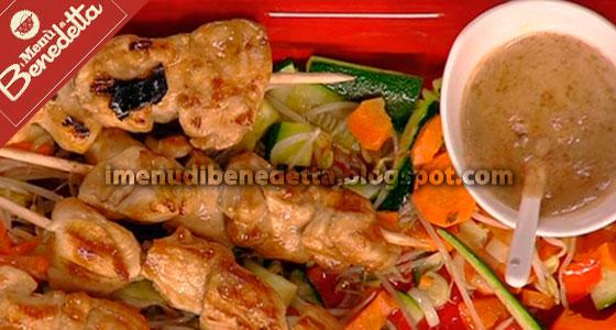 Pollo Satay con Verdure all'Orientale di Benedetta Parodi