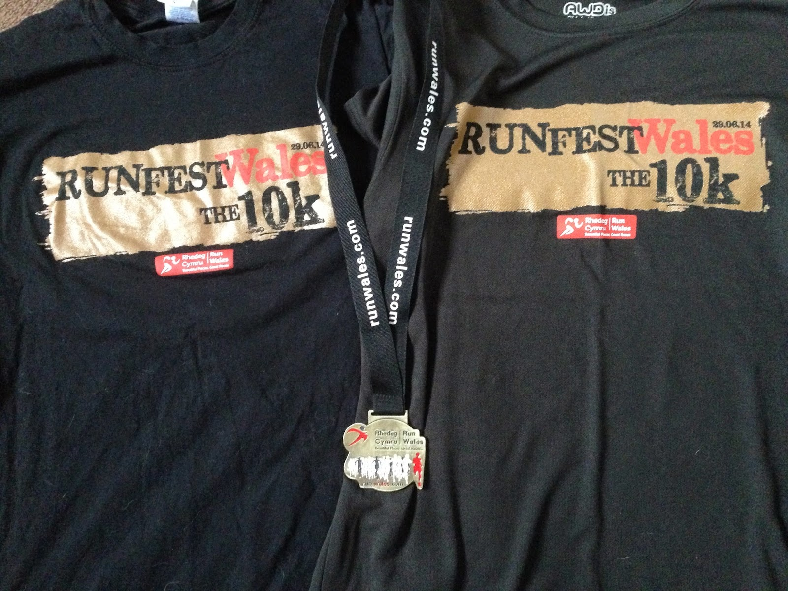 RunFest Wales 10k Medal and T-shirt