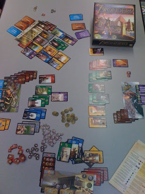 7 Wonders game mid play