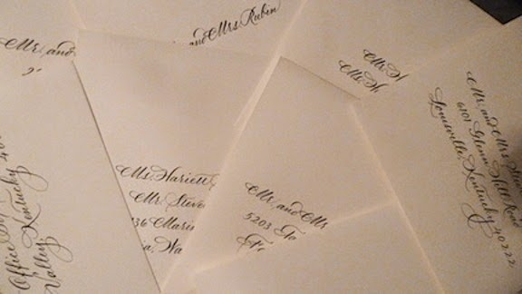 Wedding Calligraphy By Jan Hurst