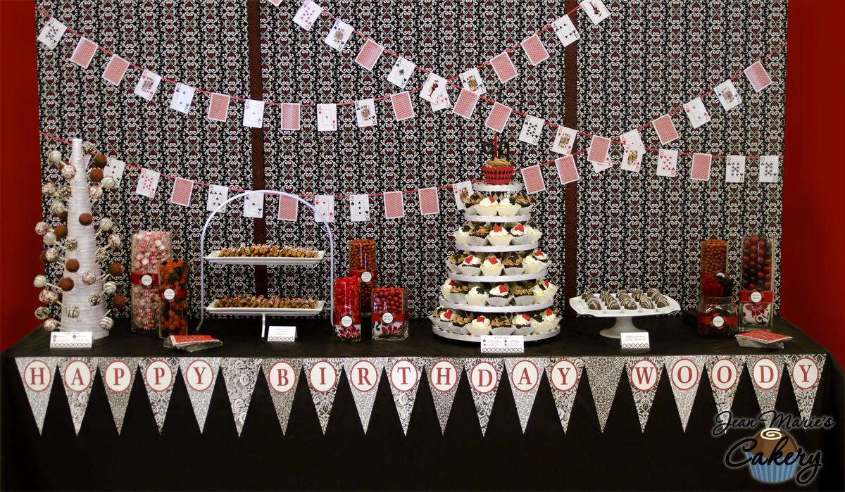 Jean Marie S Cakery Poker Party Dessert Table