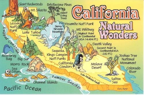 One Postcard a Day: California Natural Wonders