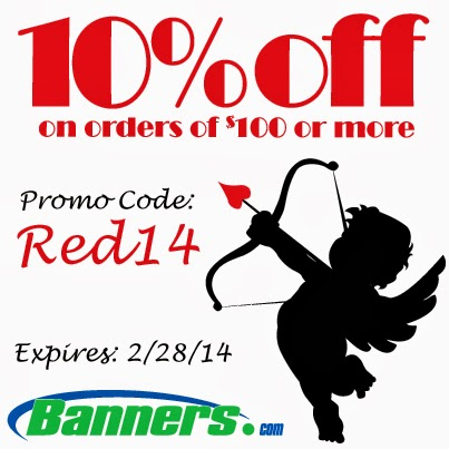 10% off orders of $100 or more at Banners.com