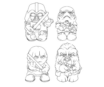 #1 Star Wars Coloring Page