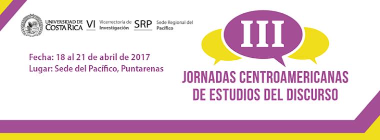 III Jornadas Centroamericanas de Estudios del Discurso 2017