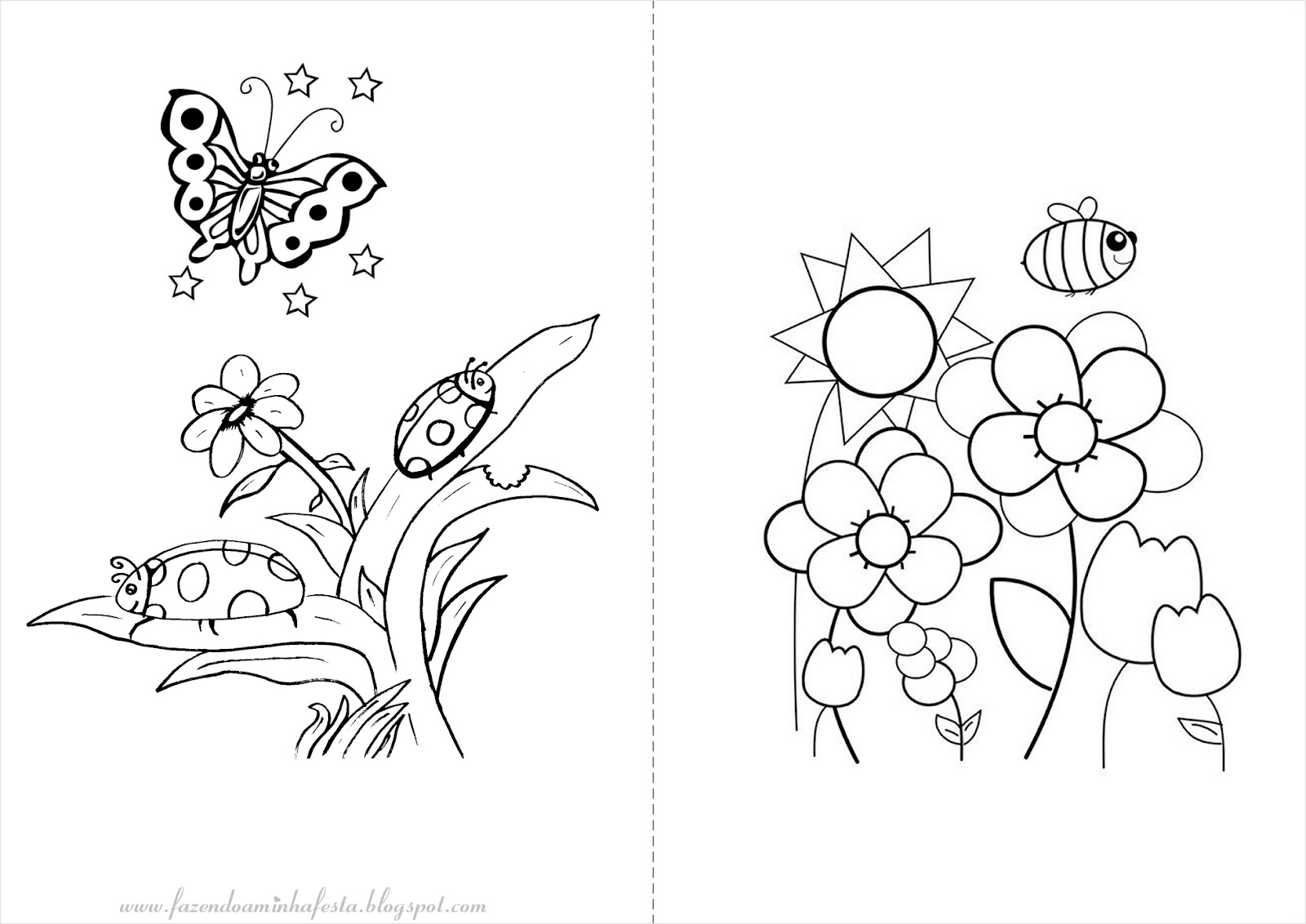 imagens de jardim para colorir Minha Festa para Colorir Jardim