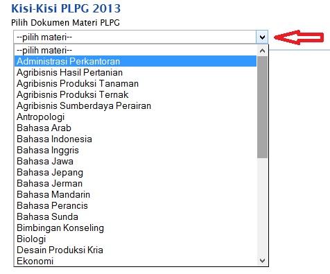 Kisi-Kisi Materi PLPG Tahun 2013