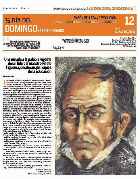 Contenido de las primeras 40 entregas de 1/2 Día del Domingo, Suplemento del diario Ciudad Cojedes
