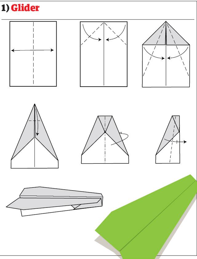 Бумажные самолётики своими руками 85