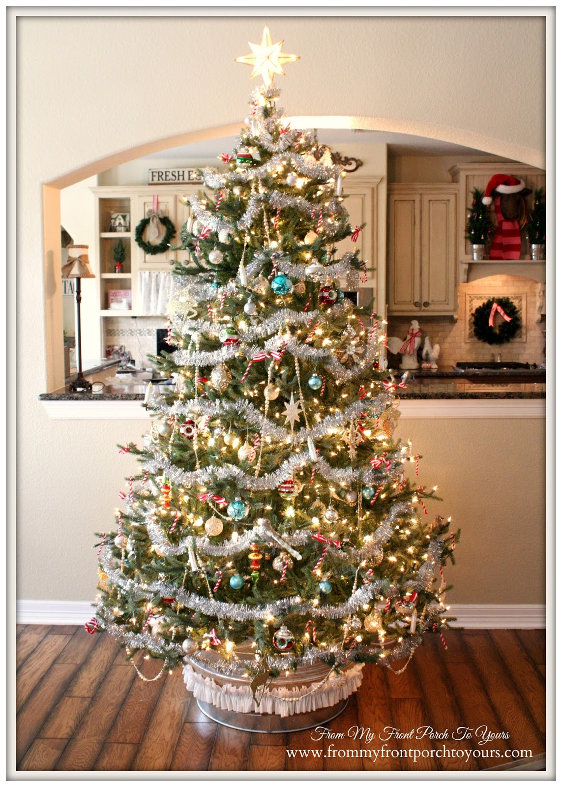 From my front porch to yours farmhouse vintage christmas How to decorate a christmas tree without tinsel