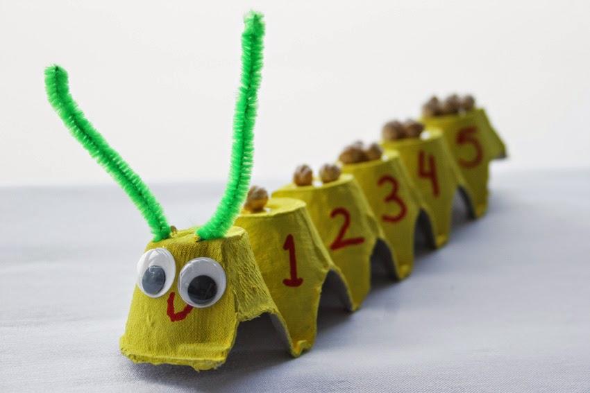 Gusanito numérico con huevera11