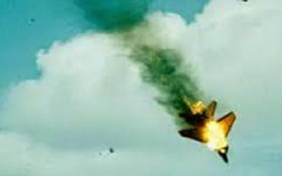 ilustrasi pesawat tertembak