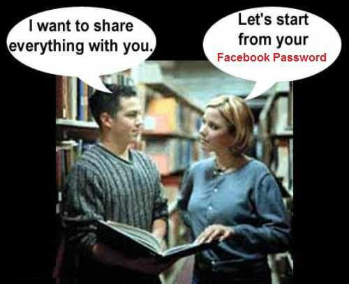 Share Facebook Password
