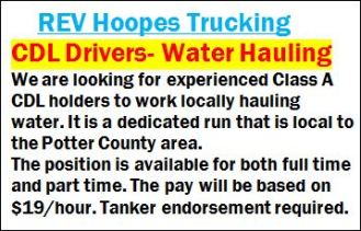 REV Hoopes Trucking--CDL Drivers Wanted
