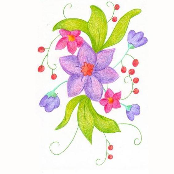 Pz c dibujos flores - Dessin de fleurs a imprimer en couleur ...