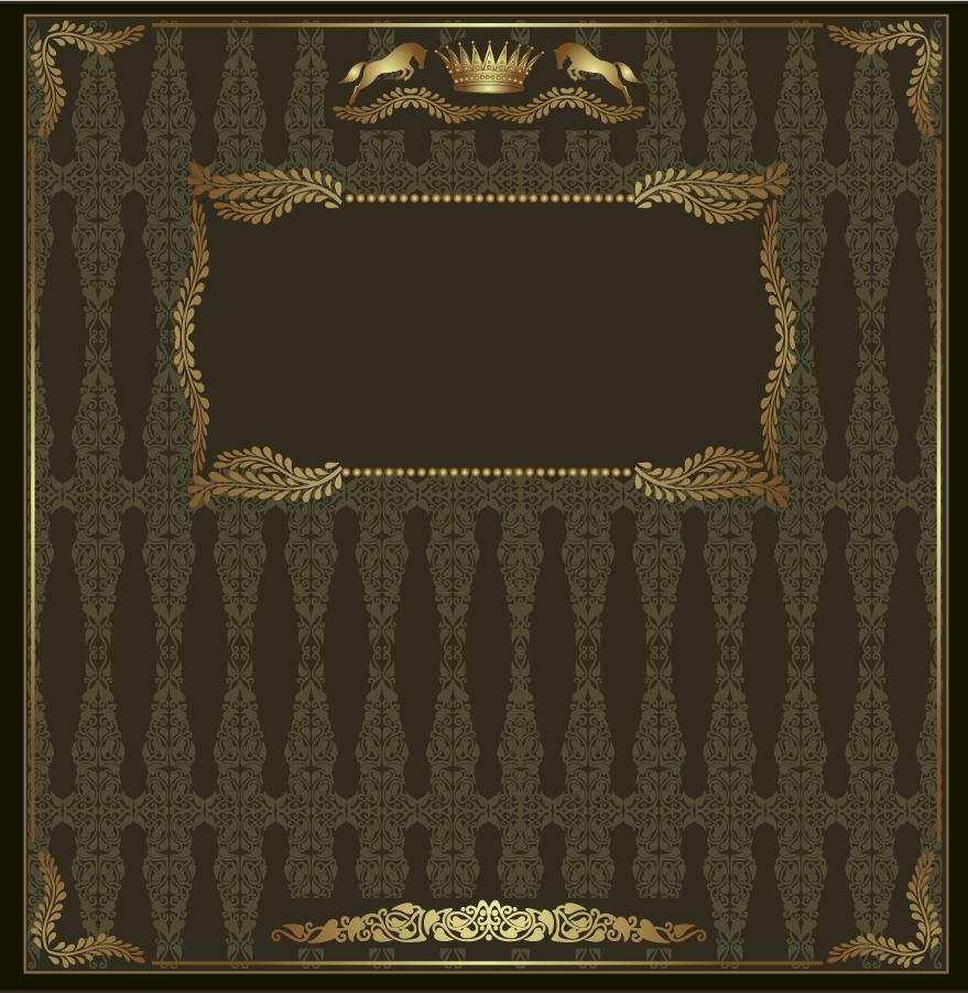 紋章を配置した表紙テンプレート european heraldry vector shading イラスト素材